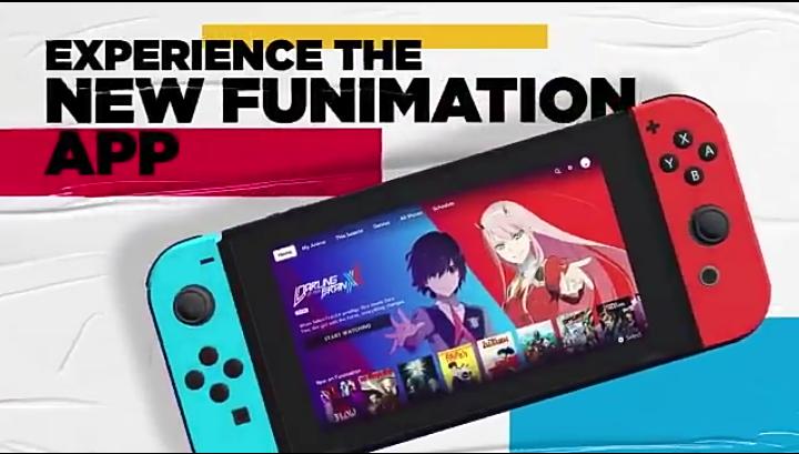 Funimation apresenta aplicativo para Nintendo Switch com uma interface nova